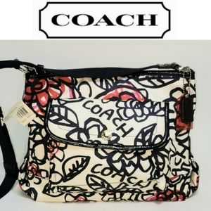 ☆NWT☆ Coach Daisy Poppy Floral Graffiti Bag